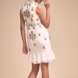 Anthropologie Dresses - Ivory dress with beautiful beading!